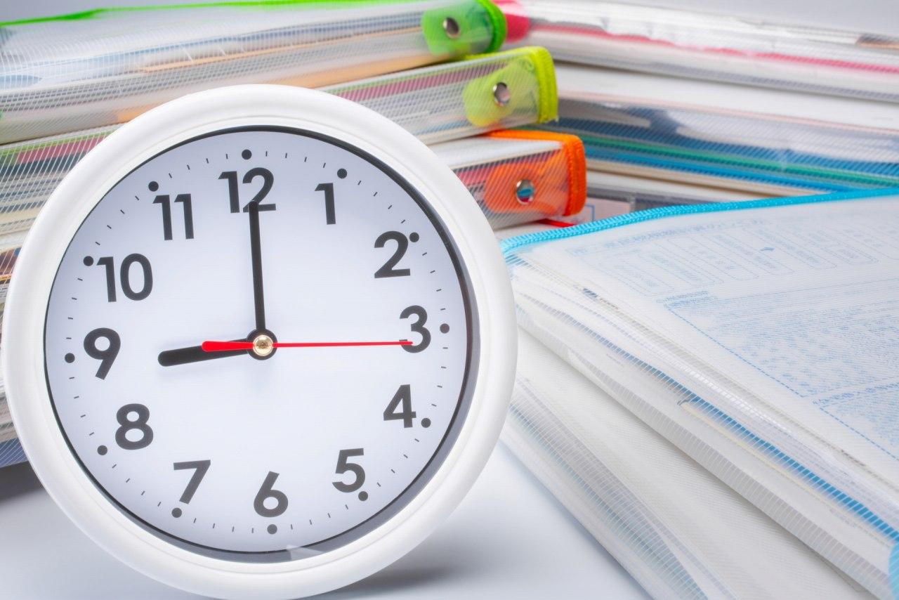 週間の学習時間を記録するための小さなシール〔担任セット〕