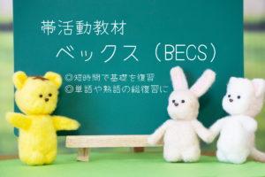 帯活動教材「ベックス」を使って効率的に基礎事項を定着させる方法
